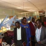 West Pokot Governor John Lonyangapuo visited patients at Ortum Mission Hospital