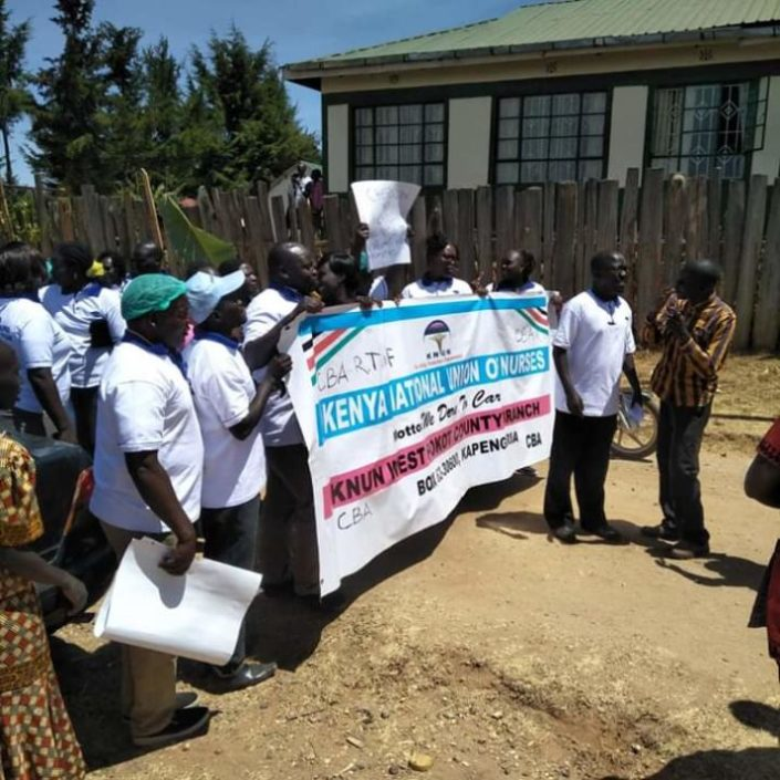 West Pokot nurses protesting during the three week long strike