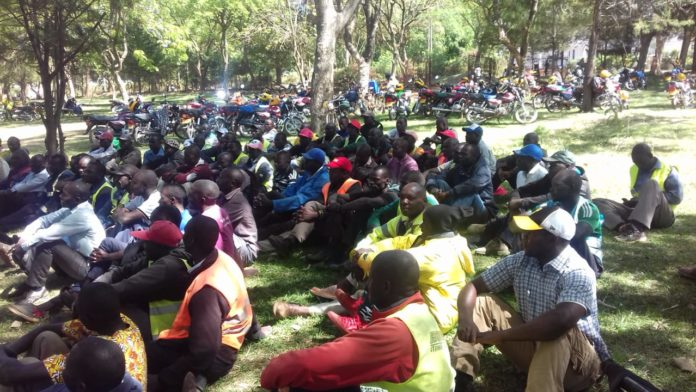 The boda boda operators lauded the move
