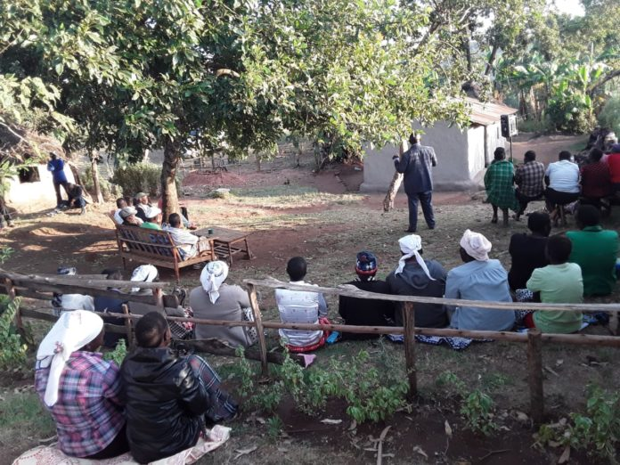 Residents condoling with the family