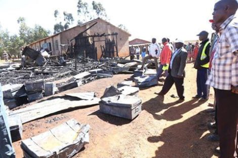 Property was lost in the dormitory fire at Cheribisi Mixed Day and Boarding Primary School in Nandi County