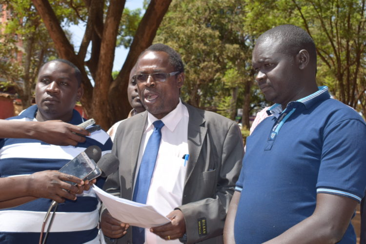 Trans Nzoia KNUN secretary Willy Sifuna said they had settled on a way forward with the County government
