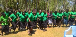 Bumula Salaams Club members entertaining the crowd during the launch