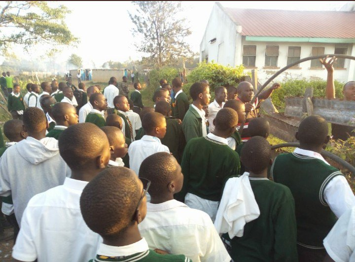 Bungoma High School students at the scene