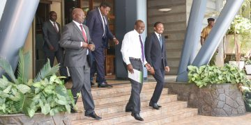 Deputy President William Ruto and Cabinet Secretaries after their meeting at the DP's office.PHOTO/DPPS