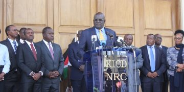 Education CS Prof. George Magoha speaking at KICD
