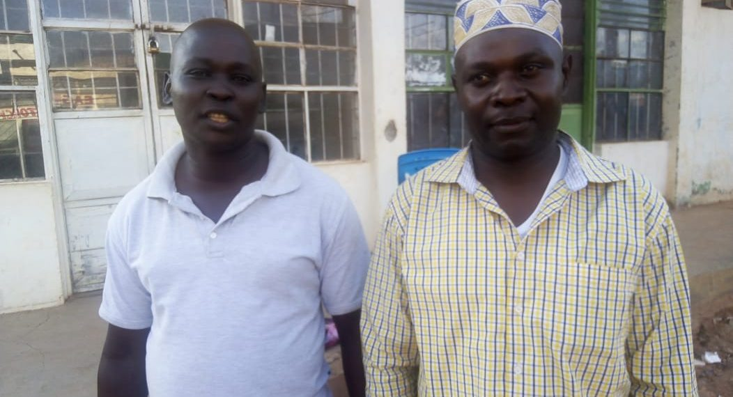 The Fwabene Caucus chairman (left) George Kukali