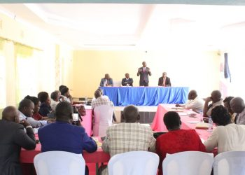 Kimilili MP Didmus Barasa speaking at the meeting