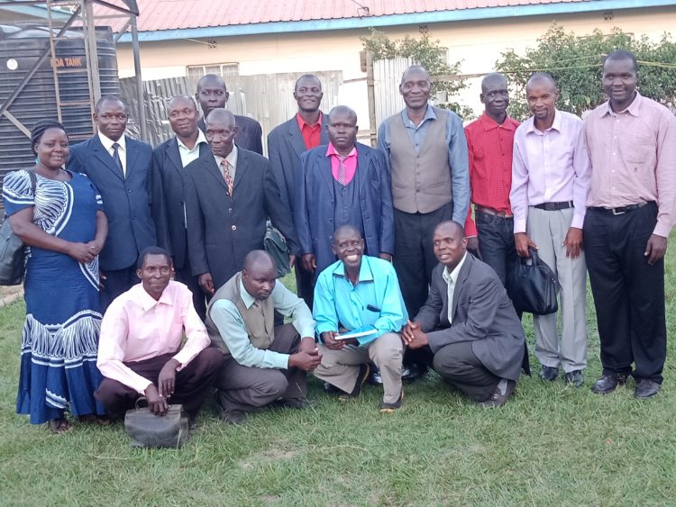 The pastors drawn from Teso North, Teso South, Bukhayo North Ward after their meeting at Amagoro