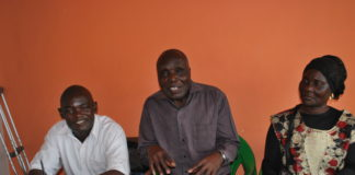 Cane farmers federation representatives speaking to the press