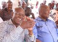 Former Kakamega Senator Boni Khalwale and Busia Governor Sospeter Ojaamong in a past event