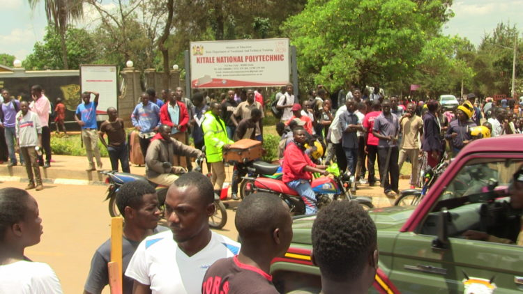 The Kitale National Polytechnic students faulted the Institute's principal