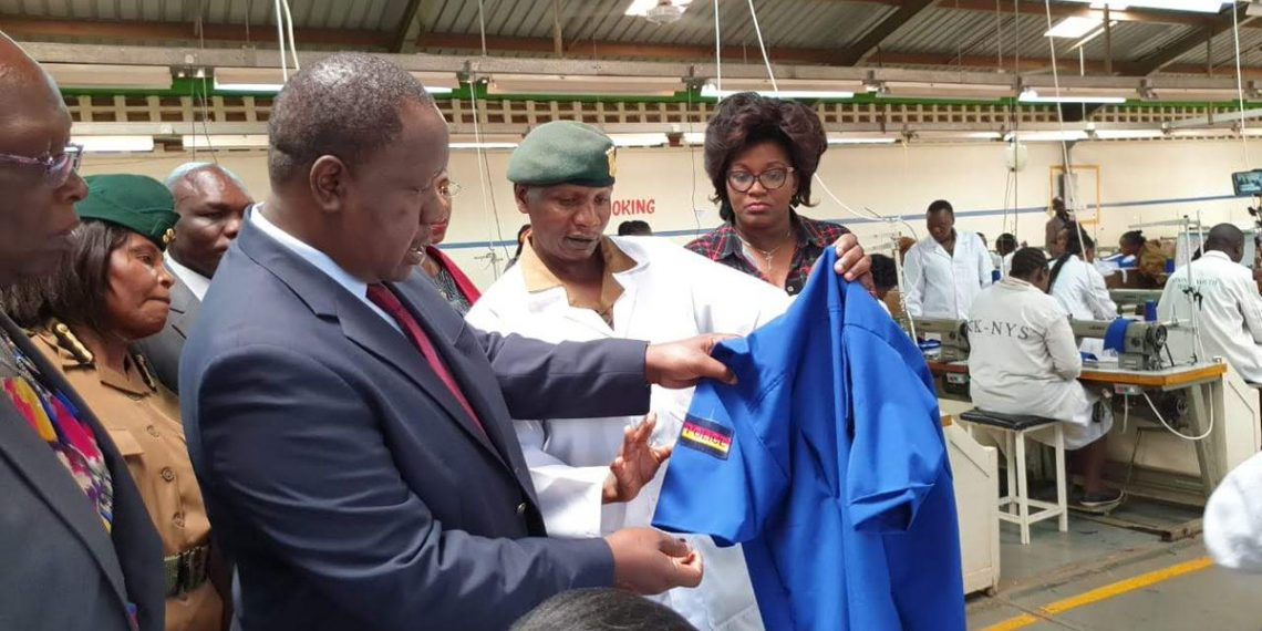 Interior CS Fred Matiang'i said currently 1,000 pairs of new police uniforms are produced daily