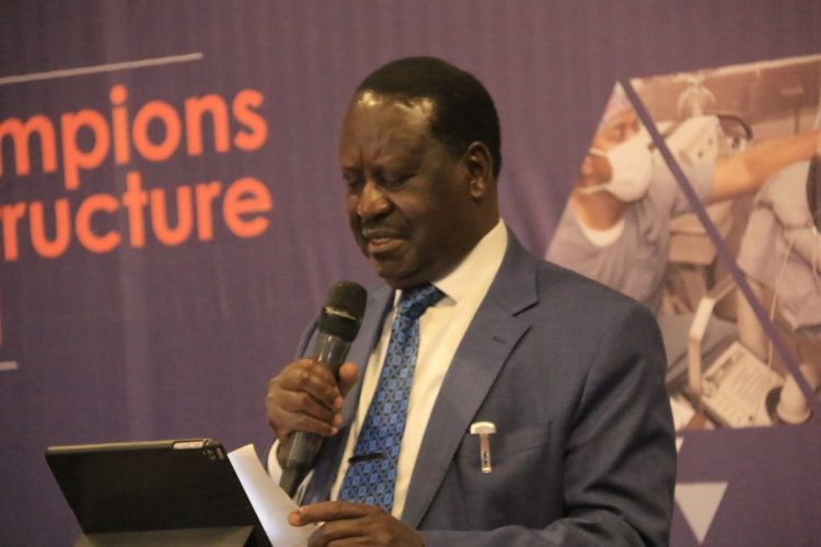 AU special envoy for infrastructure Raila Odinga