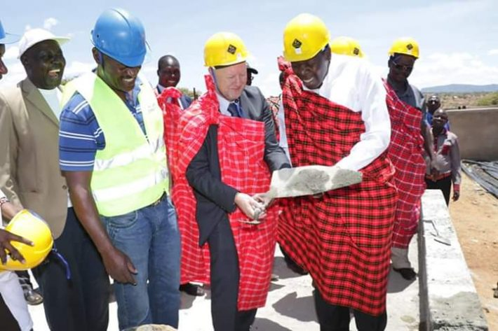 Devolution CS Eugene Wamalwa (right) said the government is investing in the project to ensure it can be a leading producer of high quality meat