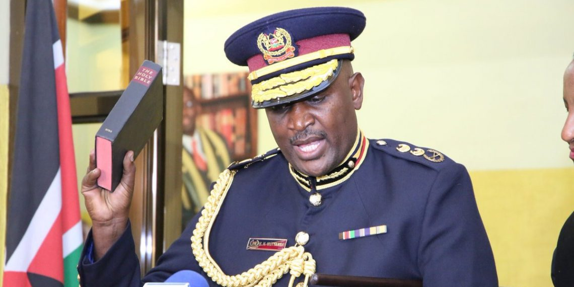Inspector General of Police Hillary Mutyambai during his swearing in