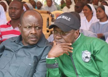 Mumias East MP Ben Washiali (left) has denied a Jubilee rift