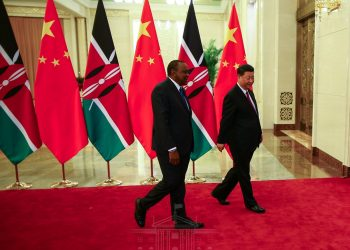 President Uhuru Kenyatta and President Xi Jinping when they met and held bilateral talks in Beijing, China