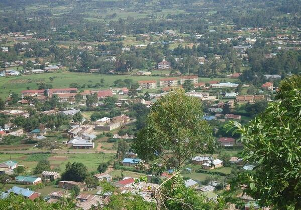A clear view of Webuye from the famous Chetambe hill. (Photo/courtesy