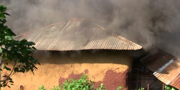 In the first incident, the locals set ablaze the suspect's house after she was taken away by police officers