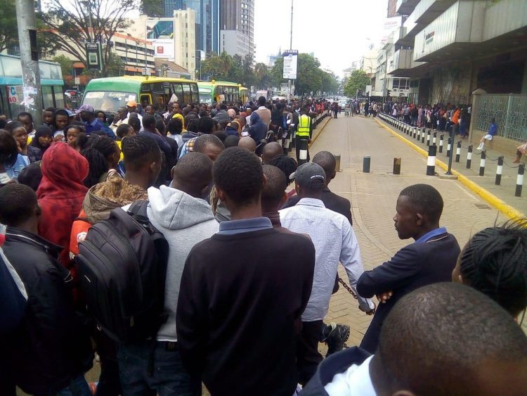 A queue at the Huduma Centre GPO. PHOTO/COURTESY