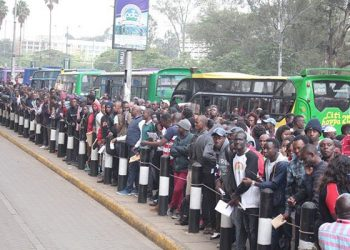 Long queues were witnessed at different registration points in Nairobi. PHOTO/COURTESY
