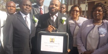 Budget Commitee chair who is also MCA for Kiminini David Kisaka after reading the budget
