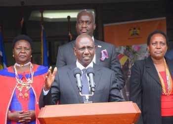 Deputy President William Ruto speaking after holding talks on the End FGM Beads Initiative at his Karen office. Photo/DPPS