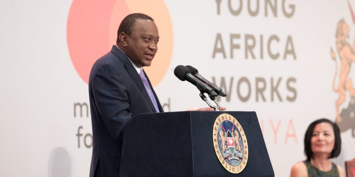 President Uhuru Kenyatta speaking at the launch of Young Africa Works program. PHOTO/PSCU
