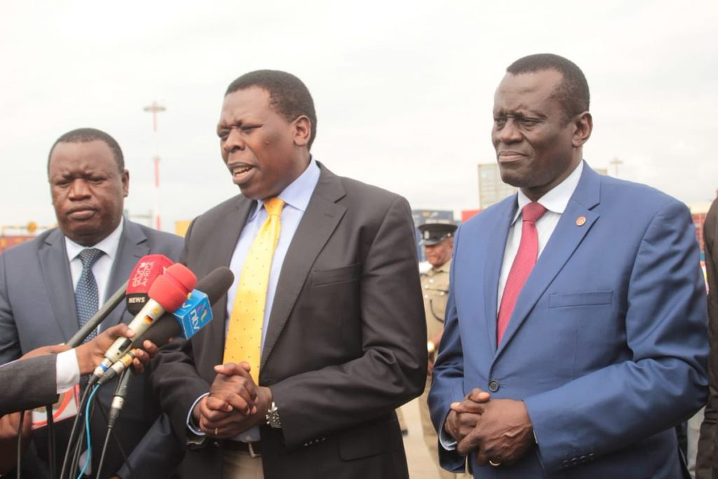 The Devolution CS speaking to the press. PHOTO/Courtesy