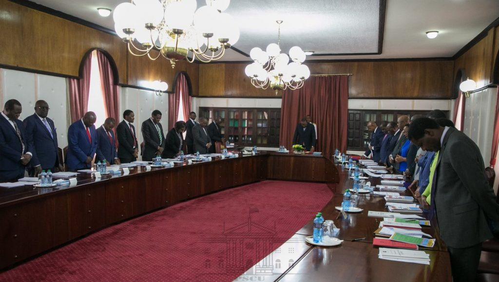 The special meeting was chaired by President Uhuru Kenyatta. PHOTO/PSCU