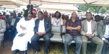 ANC leader Musalia Mudavadi (second left) during USFW national prayer day in Chavakali High School