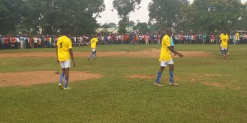 St. Peter's Mumias players before their match against Maliki
