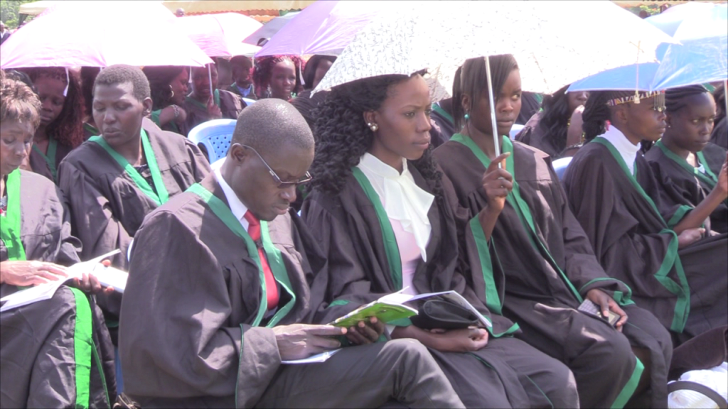 Some of the graduates at the ceremony