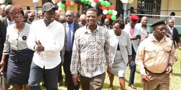DP Ruto and other leadersn at Chwele Girls secondary school. Photo/DPPS