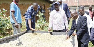 Deputy President William Ruto (centre) during his visit to Migori. Photo/DPPS