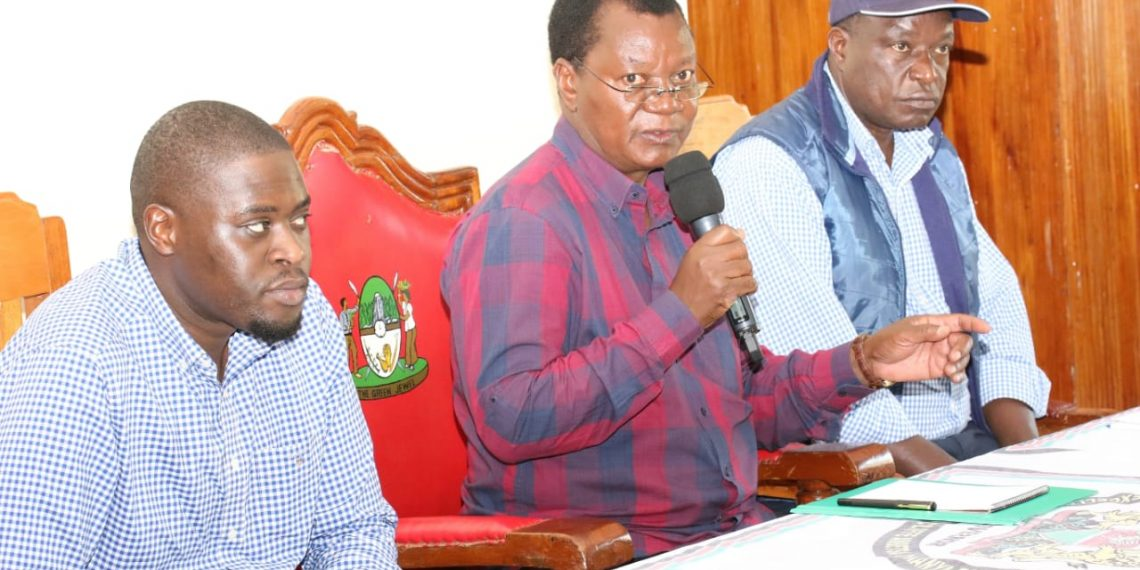 The Senate Security Committee was led by Nairobi Senator Johnson Sakaja (first) who lauded the Kakamega County government for its cooperation on security matters
