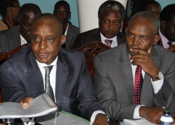 Treasury CS Henry Rotich and PS Kamau Thugge. Photo/Courtesy