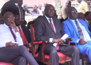 Bungoma Governor Wycliffe Wangamati (left) revealed that the Danish government has shown an interest in funding the stalled chicken factory in Chwele
