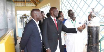 Deputy President William Ruto and Nandi Governor Stephen Sang. Photo/DPPS