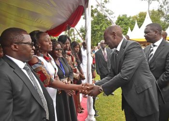 Deputy President William Ruto urged leaders not to divide Kenyans on tribal and regional lines. Photo/DPPS