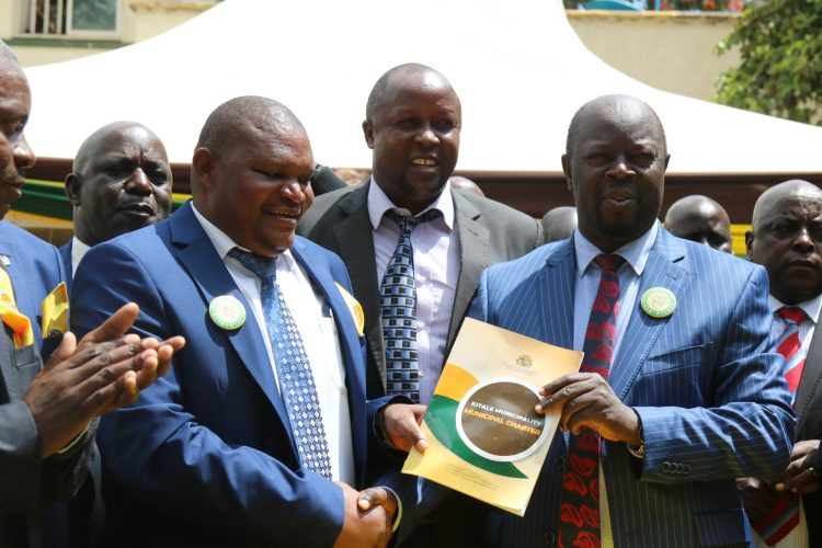 Trans Nzoia Governor Patrick Khaemba (right) has rubbished the plans to impeach him