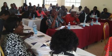 Some of the stakeholders present at the meeting in Kakamega