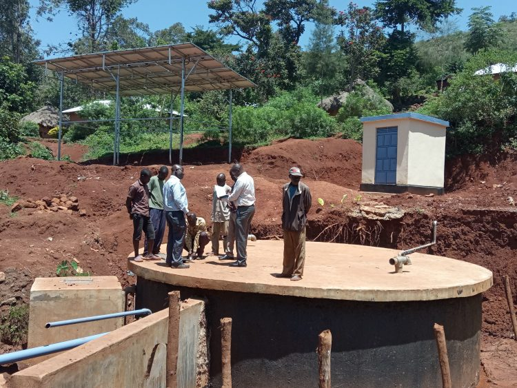 A section of Madibira water project in Samia