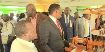 Agriculture CS Mwangi Kiunjuri at the function