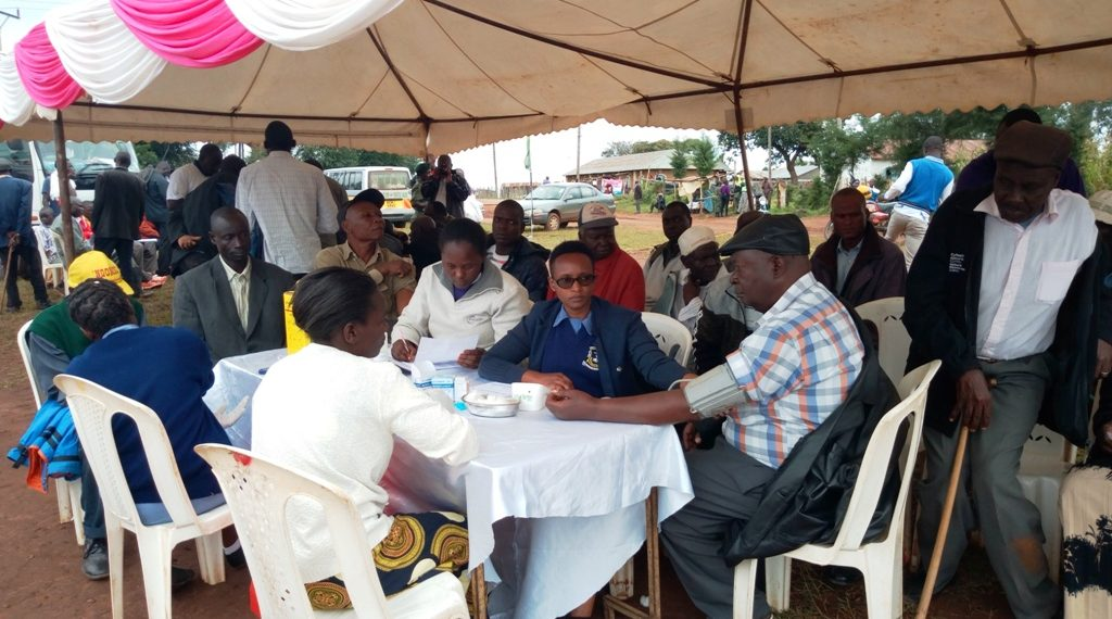 Some of the Lugari residents who turned up for free cancer screening exercise