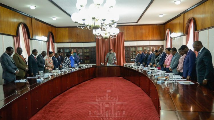 The cabinet meeting at State House Nairobi was led by President Uhuru Kenyatta. PHOTO/PSCU