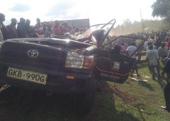 The police vehicle that was involved in the accident