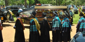The requiem mass was held at MMUST on Thursday