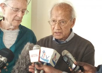 Katiba Institute director Prof. Yash Pal Ghai in Kitale